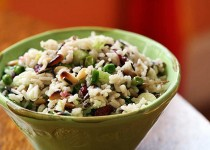 Cold wild rice salad