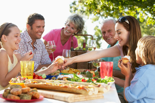 Family Eating Outside family-eating-outside jpg