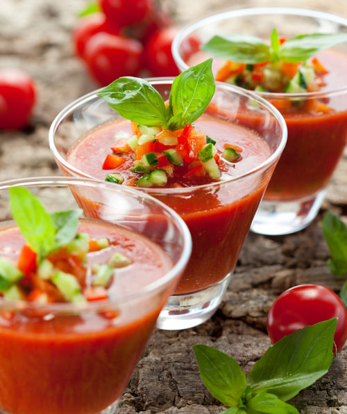 GAZPACHO WITH GARNISHES