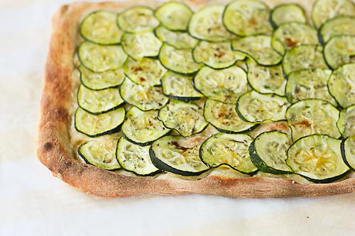 Zucchini and olive pizza | WizardRecipes