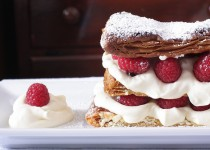 Messy Cajeta Whipped Cream Napoleon