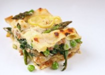 Spring Lasagna with Carrots, Peas, and Asparagus