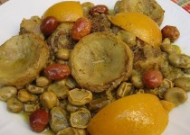 Lamb Tagine with Artichokes and Fava Beans