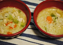 Rainy day chicken and rice soup