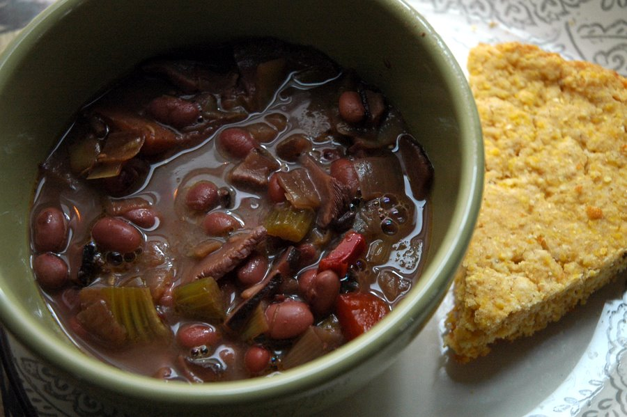 Chorizo Chili With Shiitake Mushrooms & Chickpeas Recipes — Dishmaps