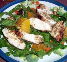 Asian Chicken Salad with Spicy Orange