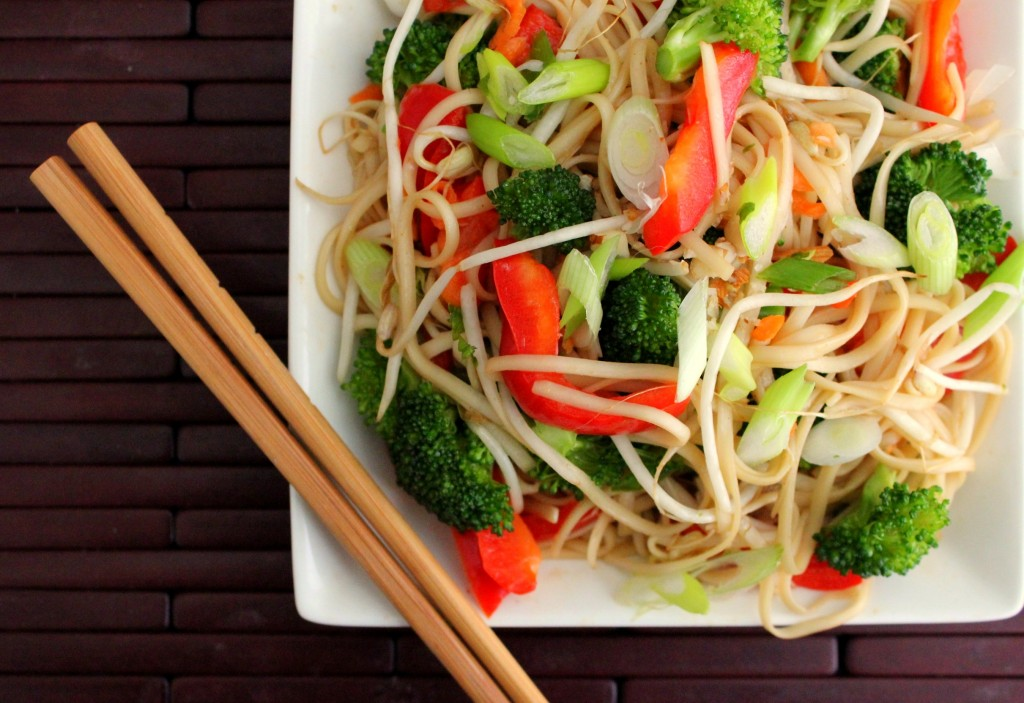 Asian Noodle and Vegetable Salad | WizardRecipes