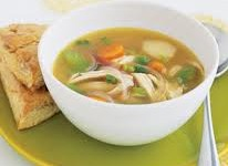 CHICKEN SOUP WITH GINGER OR SESAME OIL