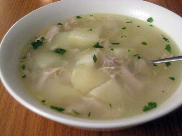 Chicken Potato And Leek Soup Wizardrecipes