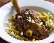 Lamb Shanks with Feta and Olives