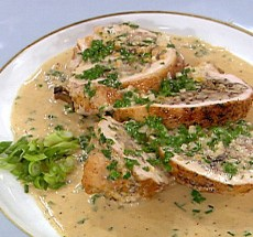 Turkey Breast with Wild Mushroom Stuffing and