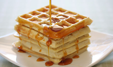 Gallery Waffles With Maple Syrup