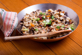 Wild Rice, Dried Cherries, and Almond Stuffing
