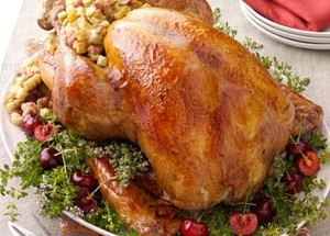 Wild Turkey with Wild Rice and Cherry Stuffing