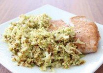 Pork Chops with Shredded Brussel Sprouts