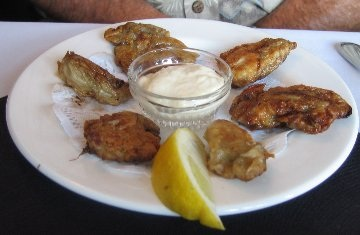 Breaded And Fried Oysters With Sauce Gribiche Wizardrecipes