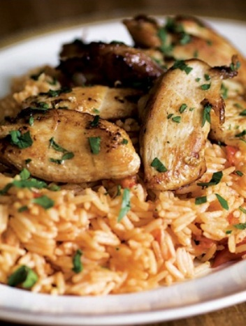 Chicken with Tomato Pilaf | WizardRecipes