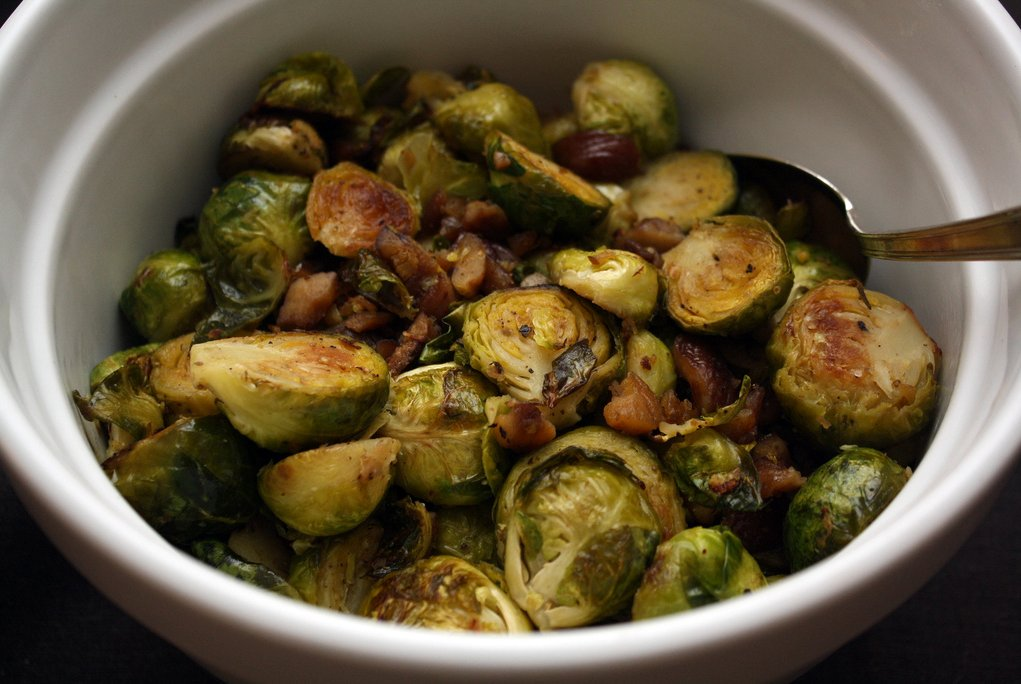 bacon with roasted chestnuts recipe yummly roasted brussel sprouts ...