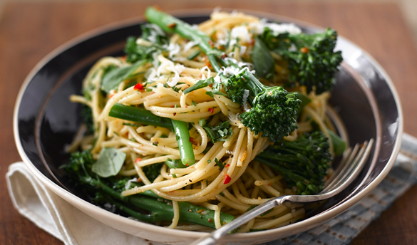 spaghetti with broccoli garlic and chili wizardrecipes