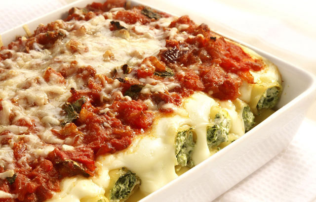 spinach mushroom and ricotta cannelloni wizardrecipes