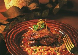 Braised Lamb with White Beans