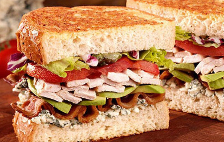 Smoked Turkey Cobb Sandwiches with Wisconsin Blue Cheese Mayonnaise ...