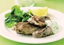 Greek grilled chicken with tzatziki