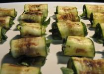 Grilled zucchini roll-ups