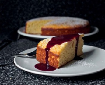 Olive Oil Ricotta Cake With Concord Grape Coulis Wizardrecipes