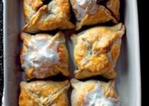Peach Dumplings with Bourbon Hard Sauce