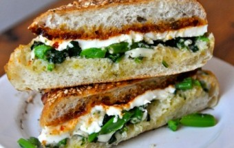 broccoli rabe panini with mozzarella