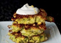 Leek Fritters with Garlic and Lemon