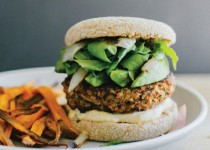 Mushroom and Brown Rice Veggie Burgers