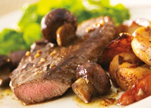 steak and potatoes with mushrooms and onions2