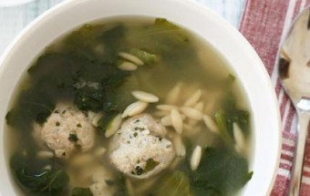 Escarole Soup with Mushrooms and Little Meatballs