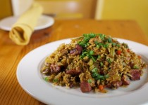 Cajun Rice, Sausage and Tasso Dressing