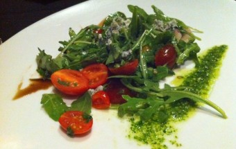 Crab with Charred Heirloom Tomatoes and Arugula