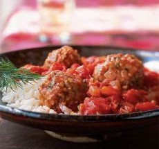 North African Lamb Patties with Tomato Mint Sauce
