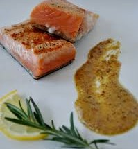 Orange-Dusted Seared Copper River Salmon