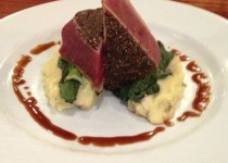 Tuna with Cabernet Whipped Potatoes