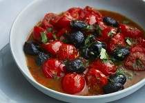 CHERRY TOMATOES WITH OLIVES