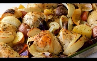 Broiled Chicken with Potatoes and Onions