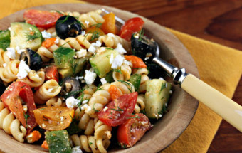 Mediterranean Salmon Pasta Salad