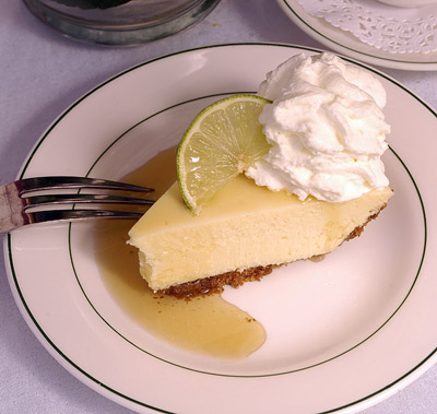 Caribbean key lime pie