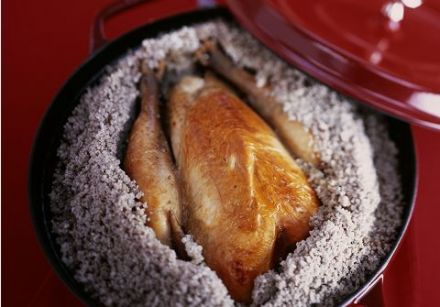 Chicken Roasted in a Salt Crust