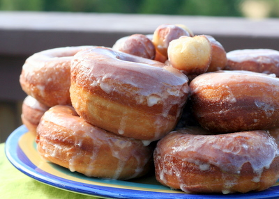 Glazed potato doughnuts