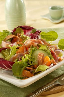 Ham Salad with Hot Peanut Dressing