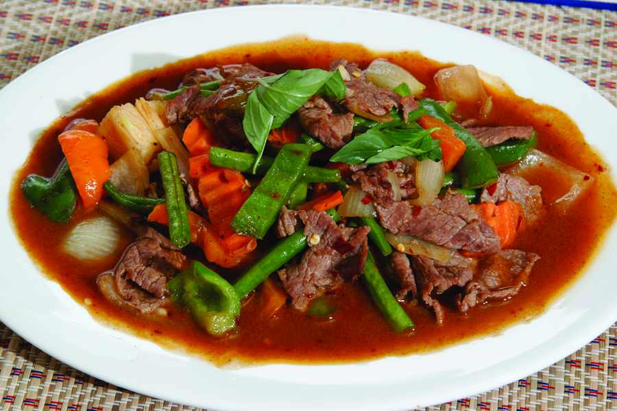 Stir-Fried Spicy Beef with Basil   WizardRecipes