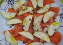 Smoked Salmon and Apple Carpaccio