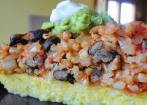 Polenta with Rice and Beans